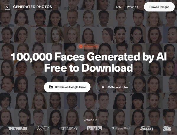 100 000 Fotos von Gesichtern